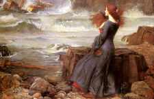 Miranda the Tempest Poster Print by John William Waterhouse, 19x13