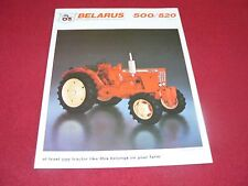 Belarus 520 500 Tractor Dealer's Brochure BB-56-R