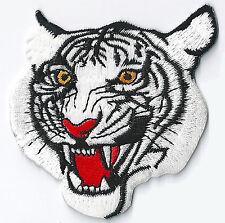 Patch écusson patche Tigre blanc Tiger thermocollant hotfix brodé