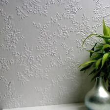 Wallpaper Paintable Flower Luxury Embossed Vinyl Easy Apply Portland Anaglypta