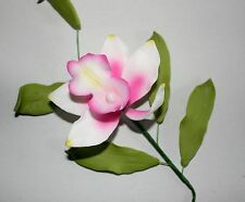 PINK Bamboo Orchid Sugar Flower Spray, Cake Topper, Sugarcraft, Wedding.