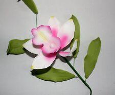 PINK Bamboo Orchid Sugar Flower Spray, Cake Topper, Sugarcraft, Wedding