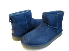 UGG CLASSIC MINI MILKY WAY WOMEN ANKLE BOOTS SUEDE DARK DENIM US 8 /UK 6 /EU 39