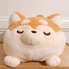 New! Shiba Inu Sleeping Dog Dango Mochi Cute Soft Fluffy Jumbo Big Plush 17�