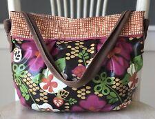 FOSSIL Medium Coated Canvas Hobo Shoulder Handbag Tote Purse Multicolor Floral
