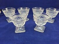 Vintage Set of 6 Clear Champagne Dessert Glasses Indiana Glass Colony Park Lane