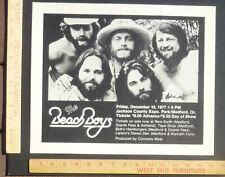 Beach Boys Brian Wilson Concert Poster Medford Oregon 1977