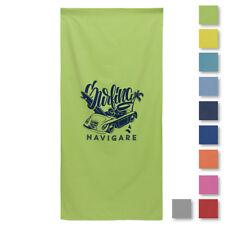 Telo mare micro fibra lettino tinta unita GMV colorato piscina sport