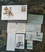 """105pc 1982 Franklin Philatelic """"Year Of The Scout"""" FDC Stamp First Day Issue E2"""