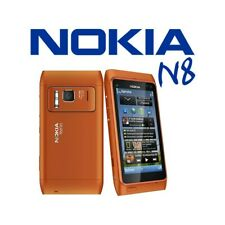 "Phone Mobile Phone Touch Screen Nokia N8 Orange 3,5"" 0.1oz Wifi HDMI Photo Zeiss"