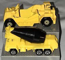Hot Wheels Vintage 1986 Street Truck & 1991 Construction Cement Mixer Trucks F5