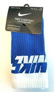 NIKE Everyday Cushioned Crew Socks 3 PACK - Size MEDIUM 5Y-7Y - NWT