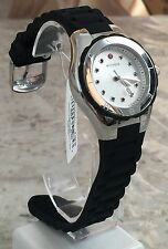 Michele Petite Tahitian Jelly Bean Topaz Silver Tone Black Watch MWW12P000011