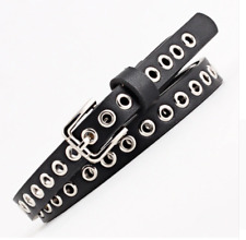 NEW BOHO FESTIVAL HIP HOP FAUX LEATHER SLIM LONG BLACK BELT UK SELLER