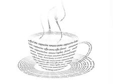 ART PRINT POSTER PAINTING DRAWING FOOD DRINK COFFEE CUP TYPOGRAPHY LFMP0626