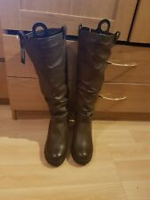 New look  dark brown boots size 9