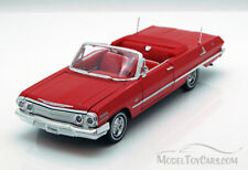 1963 Chevy Impala SS Convertible Diecast Car 1:24 Welly 8 inch Red LOOSE NO BOX