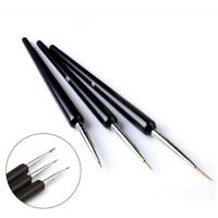 3Pcs New Design Painting Fine PULL LINE Pen Nail Art Set Brush Manicure To UKYQL