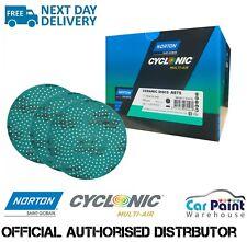 """Norton Multi Air Cyclonic Turquoise Ceramic Sanding Discs 150mm 6"""" P800 - P1000"""