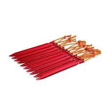 """10 PCS Aluminium Alloy 7"""" Red Camping Trip Tent Pegs Stake Nail Brand New"""