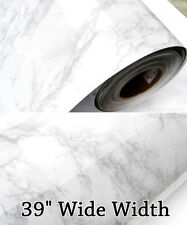 "Grey Granite Marble Contact Paper Countertop Cabinet 39"" Wide Width Wallpaper"