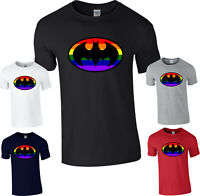 Batman LGBT Logo T-Shirt DC Comics Superhero Superman Gay PrideJustice League