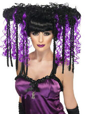 Black Purple Goth EMO Wig Tokyo Punk Geisha Anime Japanese Manga Cosplay J - Pop