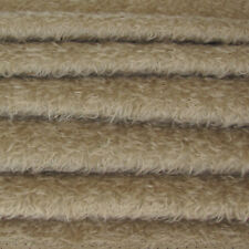 "1/4 yd 325S/CM Stone INTERCAL 5/8"" Semi-Sparse Curly-Matted Mohair Fur Fabric"
