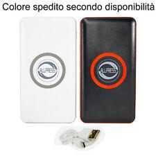 Power bank caricabatterie Wireless smartphone Tecnologia QI 6000mAh portatile