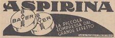 Y3722 Aspirina Bayer - Pubblicità d'epoca - 1937 vintage advertising