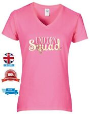 Unicorn Squad Womens Ladies Adult Pink Sweet T-shirt  Size L SALE!!!