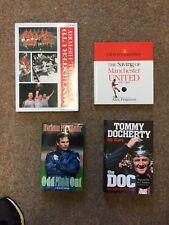 4 X Manchester United Football livres: Docherty autographe, Generation, Gibson