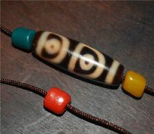 genuine tibetan old 4 eyes dzi bead pendant bracelet real four eyed gzi amulet