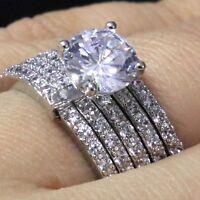 Gorgeous Cubic Zirconia Ring Women Jewelry Engagement Wedding Birthday Gift