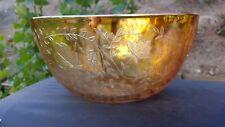"FLORAGOLD IRIDESCENT CARNIVAL 9½"" Deep Salad Bowl"