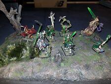 Warhammer fantasy chaos dioramma 2 champions, standard bearer, wizard, spawn,...