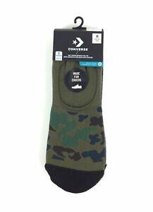 NEW Converse Half Cushion Premium Low 3 Pack No Show Chucks Mens Socks Camo NWT
