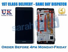 New Huawei P9  EVA-L09 Touch Digitizer LCD Screen Assembly With Frame Black
