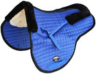 Horse Quilted ENGLISH SADDLE PAD Trail Contour Fleece Lined Blue 72110