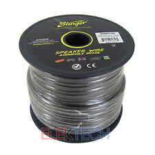 Stinger Audio 50 feet Speaker Wire 10 Gauge Pure Copper Matte Gray Cable SHW510G