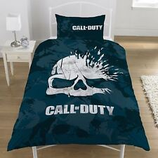CALL OF DUTY BROKEN SKULL SINGLE DUVET COVER SET BEDDING CAMO - 2 DESIGNS IN 1