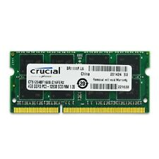4GB RAM DDR3 12800S PC3L 1600MHz Crucial SO-DIMM 4 GB Laptop