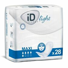 PRICE REDUCED! 4 packs of 28 (total 112 pads) - Incontinence iD Light Maxi Pads