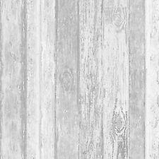 Wood Panel Wallpaper Wooden Planks Boards Beach Hut Glitter Driftwood Coloroll