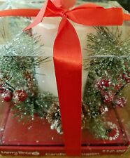 """Merry Brite Christmas LED Candle Decoration New in Box 5""""H x 3"""" candle"""
