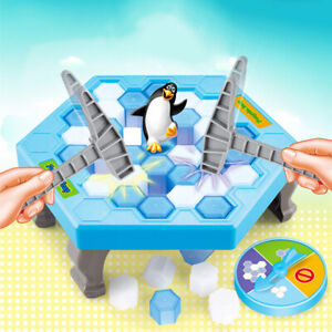 Funny Save Penguin Trap Parents Kids Game Ice Breaking Building Blocks Toy Utili
