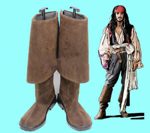 Pirates of the Caribbean Jack Sparrow Cosplay Boots Shoes Halloween