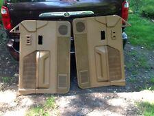1987-1996 DODGE DAKOTA  Driver Passenger Door Panel Set Panels BROWN T5354