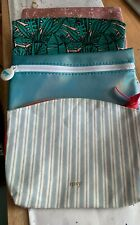 LOT OF 4 IPSY MAKEUP BAGS - NEW - VARIOUS COLORS AND DESIGNS - CUTE!