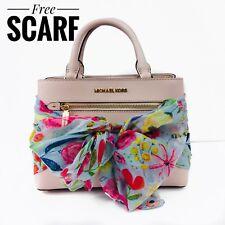 Michael Kors Hailee Satchel Crossbody Blossom Pink Top Handle Purse Scarf $328